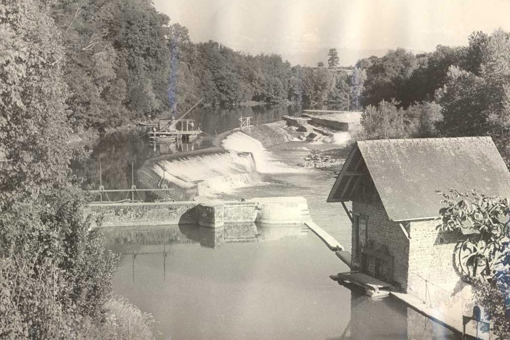 Le barrage de Masseys en 1955